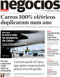 capa Jornal de Negócios de 23 janeiro 2019