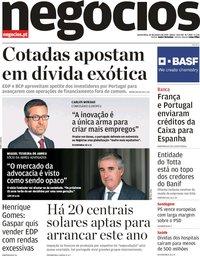 capa Jornal de Negócios de 24 janeiro 2019