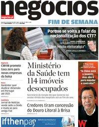 capa Jornal de Negócios de 25 janeiro 2019