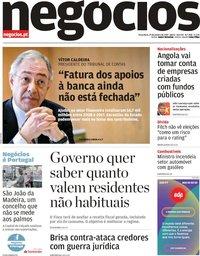 capa Jornal de Negócios de 29 janeiro 2019