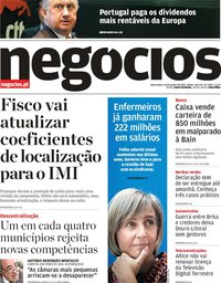 capa Jornal de Negócios de 30 janeiro 2019