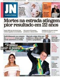 capa Jornal de Notícias de 2 janeiro 2019