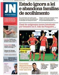 capa Jornal de Notícias de 3 janeiro 2019