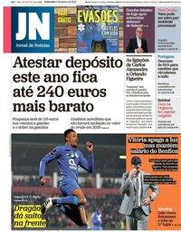 capa Jornal de Notícias de 4 janeiro 2019
