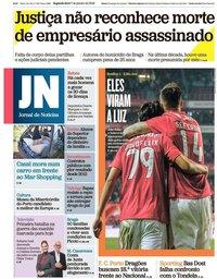 capa Jornal de Notícias de 7 janeiro 2019
