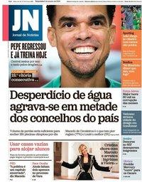 capa Jornal de Notícias de 8 janeiro 2019