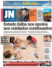 capa Jornal de Notícias de 18 janeiro 2019
