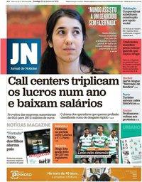 capa Jornal de Notícias de 20 janeiro 2019