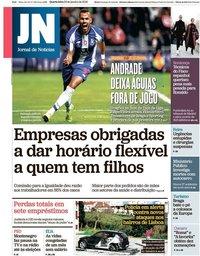 capa Jornal de Notícias de 23 janeiro 2019
