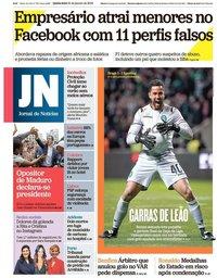 capa Jornal de Notícias de 24 janeiro 2019