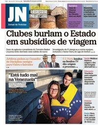 capa Jornal de Notícias de 25 janeiro 2019