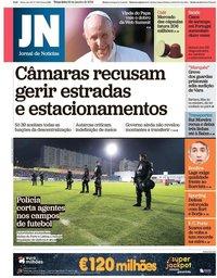 capa Jornal de Notícias de 29 janeiro 2019
