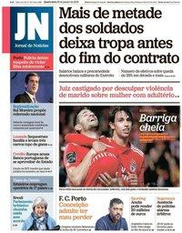 capa Jornal de Notícias de 30 janeiro 2019
