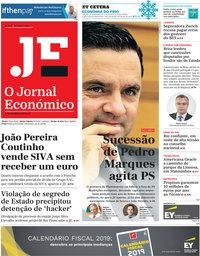 capa Jornal Económico de 18 janeiro 2019