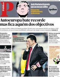 capa Público de 4 janeiro 2019