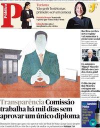 capa Público de 5 janeiro 2019