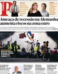capa Público de 9 janeiro 2019