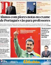 capa Público de 10 janeiro 2019