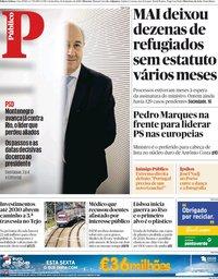 capa Público de 11 janeiro 2019