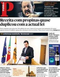 capa Público de 12 janeiro 2019