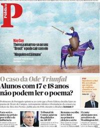 capa Público de 15 janeiro 2019