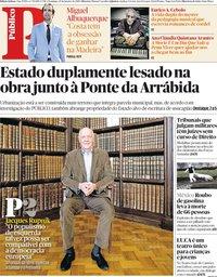 capa Público de 20 janeiro 2019