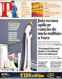 capa Público de 28 janeiro 2019