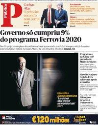 capa Público de 31 janeiro 2019