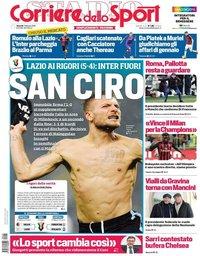 capa Corriere dello Sport de 1 fevereiro 2019