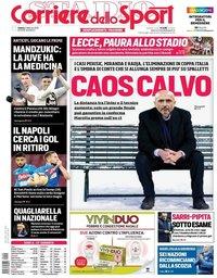 capa Corriere dello Sport de 2 fevereiro 2019