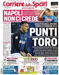 capa Corriere dello Sport de 10 fevereiro 2019