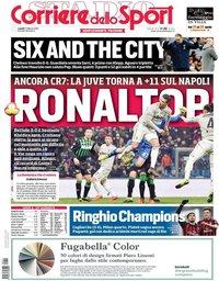 capa Corriere dello Sport de 11 fevereiro 2019