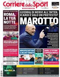 capa Corriere dello Sport de 12 fevereiro 2019