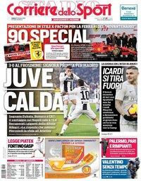 capa Corriere dello Sport de 16 fevereiro 2019