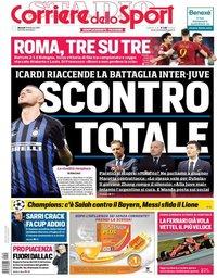 capa Corriere dello Sport de 19 fevereiro 2019