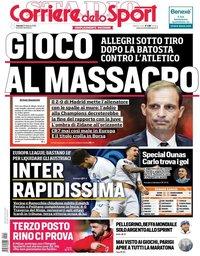 capa Corriere dello Sport de 22 fevereiro 2019