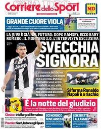 capa Corriere dello Sport de 28 fevereiro 2019