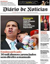 capa Diário de Notícias de 1 fevereiro 2019