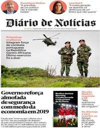 capa Diário de Notícias de 4 fevereiro 2019