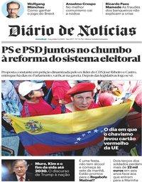 capa Diário de Notícias de 5 fevereiro 2019