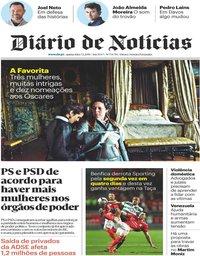 capa Diário de Notícias de 7 fevereiro 2019