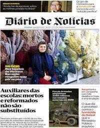 capa Diário de Notícias de 8 fevereiro 2019