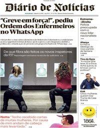 capa Diário de Notícias de 9 fevereiro 2019