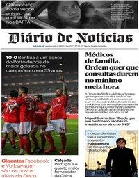 capa Diário de Notícias de 11 fevereiro 2019