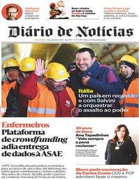 capa Diário de Notícias de 12 fevereiro 2019