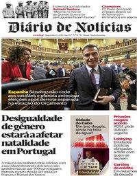 capa Diário de Notícias de 13 fevereiro 2019