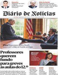 capa Diário de Notícias de 14 fevereiro 2019