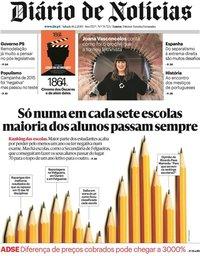 capa Diário de Notícias de 16 fevereiro 2019