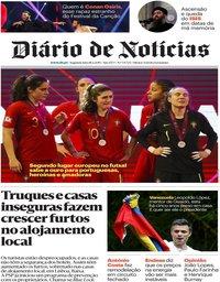 capa Diário de Notícias de 18 fevereiro 2019