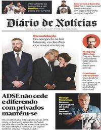 capa Diário de Notícias de 19 fevereiro 2019